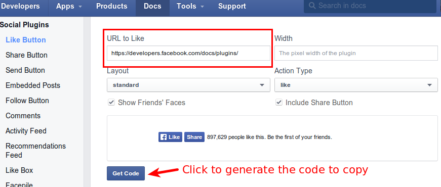 FB Like Button Generator